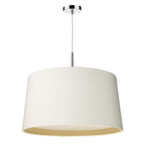 Hastings 60cm 2-Tone Pendant Chrome with Shade (choose colour) HAS6099 (Hand made, 10-14 day Del)